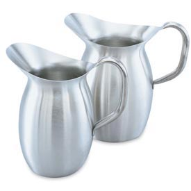 Bell Shaped Pitcher 2-1/8 Qt - Satin Finished - Pkg Qty 4