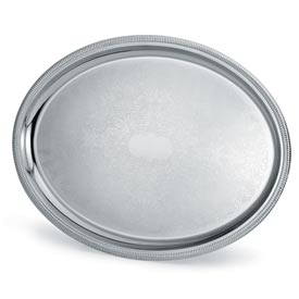 "Vollrath® Elegant Reflections™ Oval Tray - 21-3/4"" x 16"""
