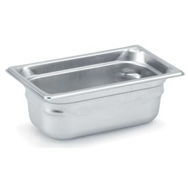 Vollrath® 1/4 Size Super Pan 3® 90452 Pan 55mm, 2d - Pkg Qty 6