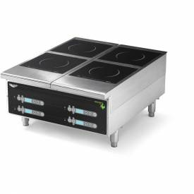 "Vollrath, Cayenne Heavy-Duty Induction Hot Plate, 924HIDC, Four-Hob Digital, 24"" X... by"