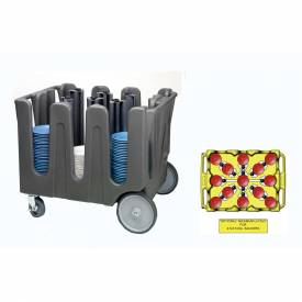 """Click here to buy Vollrath, Traex Adjustable Dish Caddy, ADC-14, For Dish Sizes 1/2 """"- 5-1/2"""", 14 Divider."""