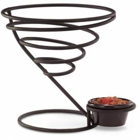 Vollrath, Twister Large Wire Cone W/ Ramekin Holder, WC-6009-06, 3-1/2 Cup Capacity, Black by