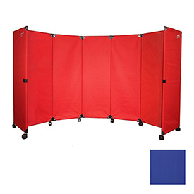 Portable Mobile Room Divider, MP10S (4') Blue