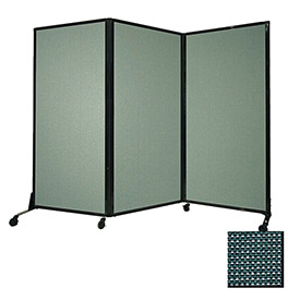 """Portable Acoustical Partition Panel, AWRD  88""""x8'4"""" Fabric, Evergreen"""