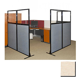 """Partition Panels with Windows - No Assembly, 70"""", 1 Partition Panel, Sand"""