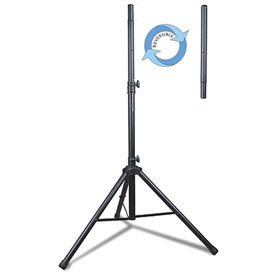 Click here to buy Technical Pro Professional Steel Tri-Pod Speaker Stand, PT400R.