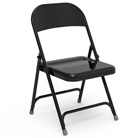 Virco® 162 Steel Folding Chair, Black Finish - Pkg Qty 4