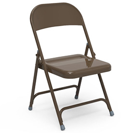 Virco 162 Steel Folding Chair, Brown Finish Package Count 4 by