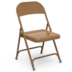 Virco® 162 Steel Folding Chair, Gold Finish - Pkg Qty 4