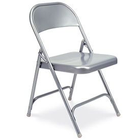 Virco 162 Steel Folding Chair, Gray Finish Package Count 4 by