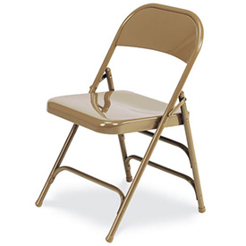 Virco 167 Steel Folding Chair, Gold W/ Double Leg Brace Package Count 4 by