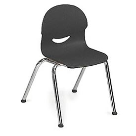 Virco® 264513 Small I.Q.® Series Chair, Black With Chrome Frame - Pkg Qty 5