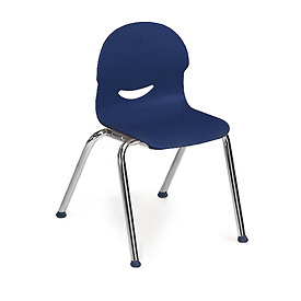 Virco® 264513 Small I.Q.® Series Chair, Blue With Chrome Frame - Pkg Qty 5