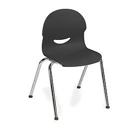 Virco® 264515 Medium I.Q.® Series Chair, Black With Chrome Frame - Pkg Qty 5