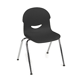 Virco 264517 Large I.Q. Series Chair, Black With Chrome Frame Package Count 4 by