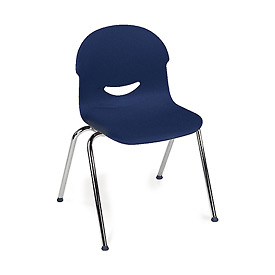 Virco® 264617 Large I.Q.® Series Chair, Blue With Chrome Frame - Pkg Qty 4