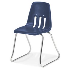 Virco® 9612 Small Classroom Chair, Blue With Chrome Frame - Pkg Qty 4
