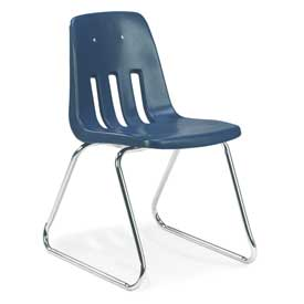 Virco® 9618 Full-Sized Classroom Chair, Blue With Chrome Frame - Pkg Qty 4