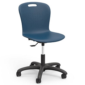 "Virco® SGTASK18 The Sage™ Task Chair 18"", Navy with Black Base"