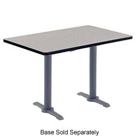 "Virco® U3048 Cafe Table High-Pressure Laminate Top 30""x 48"", Gray"