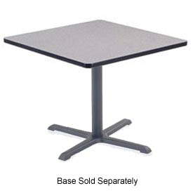 Virco® U3636 Cafe Table High-Pressure Laminate Top 36x36, Gray