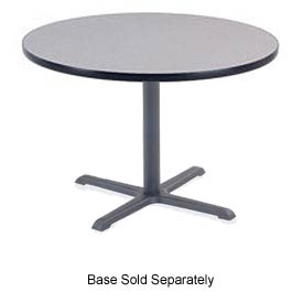 "Virco® U36R Cafe Table High-Pressure Laminate Top 36"" Round, Gray"