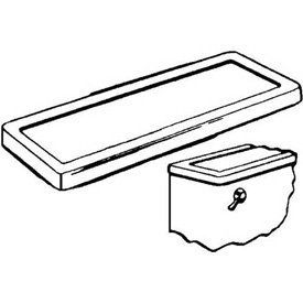 Wal-Rich® 1354200 Fitall Plastic Tank Cover - Pkg Qty 6