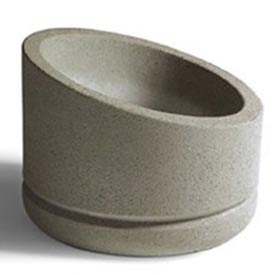 Wausau SL401 Round Outdoor Planter - Weatherstone White 30x15