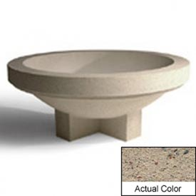 Wausau SL4031 Round Outdoor Planter - Weatherstone Gray 72x28-1/2
