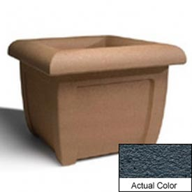 Wausau SL407 Square Outdoor Planter - Weatherstone Charcoal 38x38x30