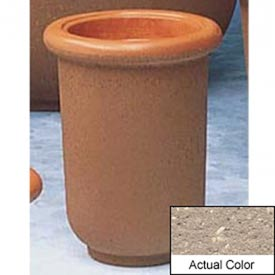 Wausau TF4050 Round Outdoor Planter - Weatherstone Buff 18x24