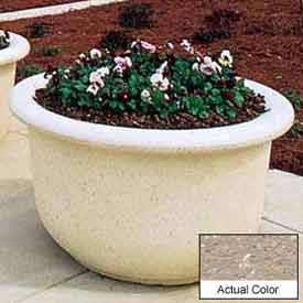 Wausau TF4065 Round Outdoor Planter - Weatherstone Buff 60x42