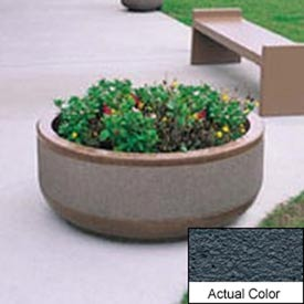 Wausau TF4105 Round Outdoor Planter - Weatherstone Charcoal 42x17