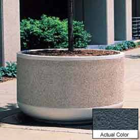 Wausau TF4130 Round Outdoor Planter - Weatherstone Charcoal 60x36
