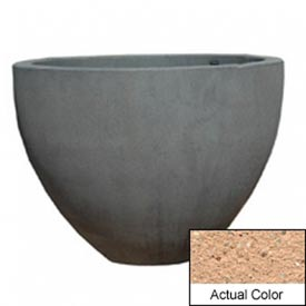 Wausau TF4132 Round Outdoor Planter - Weatherstone Cream 60x42