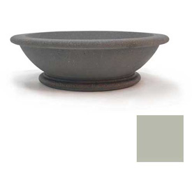 Wausau TF4133 Round Outdoor Planter - Smooth Stained Gray 60x18