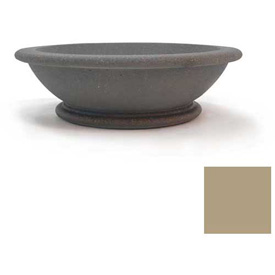 Wausau TF4133 Round Outdoor Planter - Smooth Stained Sand 60x18