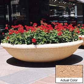 Wausau TF4143 Round Outdoor Planter - Weatherstone Cream 72x18