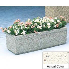 Wausau TF4160 Rectangular Outdoor Planter - Weatherstone White 48x18x14
