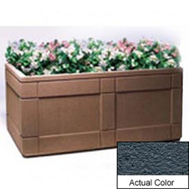 Wausau TF4183 Rectangular Outdoor Planter - Weatherstone Charcoal 72x48x33