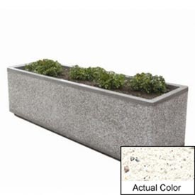 Wausau TF4213 Rectangular Outdoor Planter - Weatherstone White 96x48x36