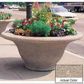 Wausau TF4302 Round Outdoor Planter - Weatherstone Buff 80x35