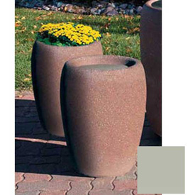 Wausau TF4350 Round Outdoor Planter - Smooth Stained Gray 18-1/2x25