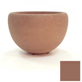 Wausau TF4352 Round Outdoor Planter - Smooth Stained Brown 36x24