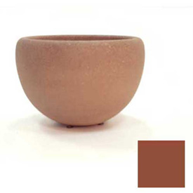 Wausau TF4352 Round Outdoor Planter - Smooth Stained Brick Red 36x24