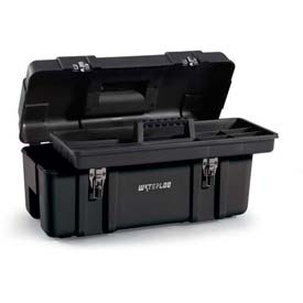"Waterloo PP-2310BK Plastic Portable 23"" Plastic Tool Box - Black"