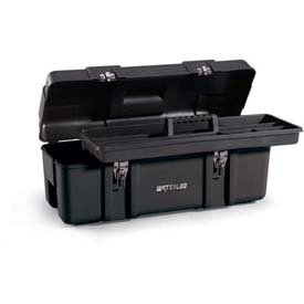 "Waterloo PP-2610BK Plastic Portable 26"" Plastic Tool Box - Black"