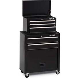 Waterloo STC-265BK-B Ball Bearing 5-Drawer Tool Center w/ Panel - Black