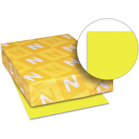 "Neenah Paper Astrobrights Colored Card Stock 21021, 8-1/2"" x 11"", Lift-Off Lemon, 250/Pack by"