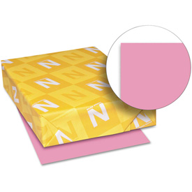 "Neenah Paper Astrobrights Colored Card Stock 21041, 8-1/2"" x 11"", Pulsar Pink, 250/Pack by"